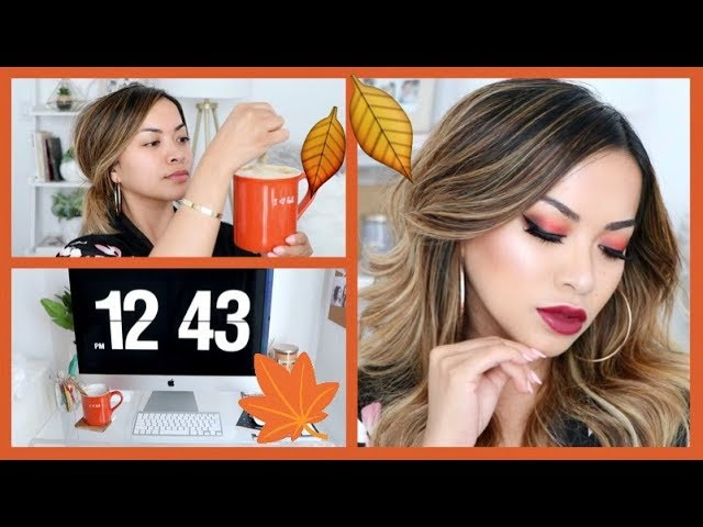 My Fall Inspired Makeup, Hair, Skincare + Redecorating My Beauty Room!