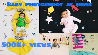 monthly baby photoshoot at home ideas