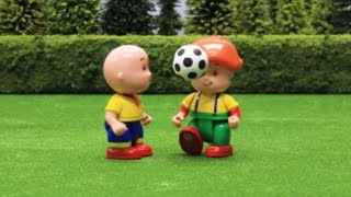 Funny Animated Cartoon | Caillou and Leo play football | WATCH ONLINE | Caillou Stop Motion