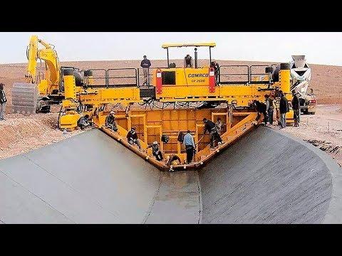 देखिये अमेरिका में नहर कैसे बनाई जाती है MODERN TECHNOLOGY ROAD CONSTRUCTION MACHINES IN THE WORLD