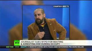 Journalist sues (NYPD) for alleged Occupy beating  1/4/13