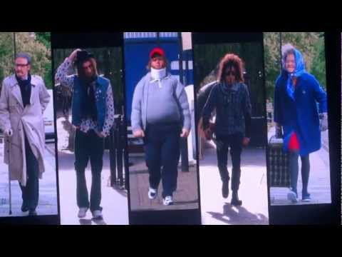 One Direction TMH tour dressing up as old people