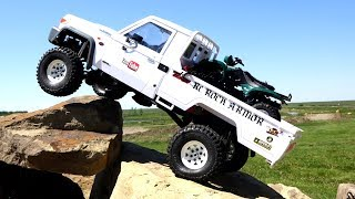 Toyota LC70 Land Cruiser w/ ATV - as Fast as Necessary, as Slow as Possible | RC ADVENTURES