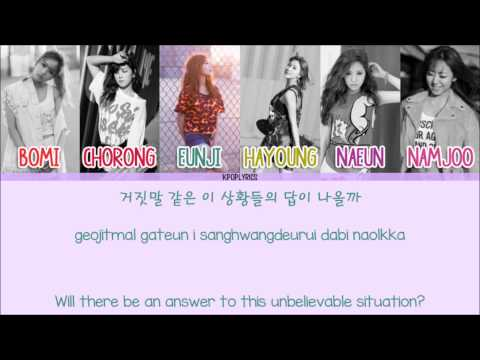 Apink - Dejavu [Eng/Rom/Han] Picture + Color Coded HD