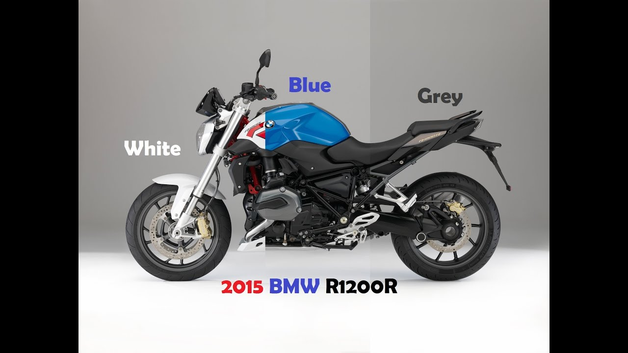 "2015 BMW R1200R, colors ""Blue non-metallic, Light white ..."