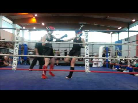 1/4 Finale Fabienne Bouteille Championnat de France de Kick Boxing