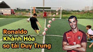 Thử Thách Bóng Đá với Ronaldo Khánh Hòa kỹ thuật sút bóng và Skills đỉnh khiến Đỗ Kim Phúc bất ngờ