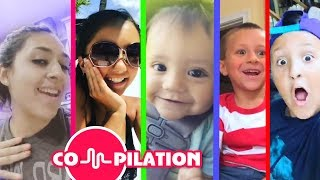 LIP SINGING COMPILATION Video of FUNnel Vision Family! Short Funny Song Clips Music Videos 4 Kids