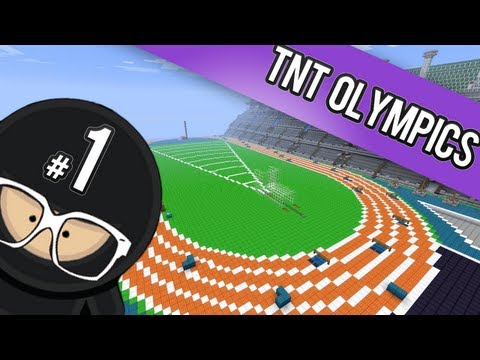 Minecraft TNT Olympics - Part 1 (Long Jump & Vault)