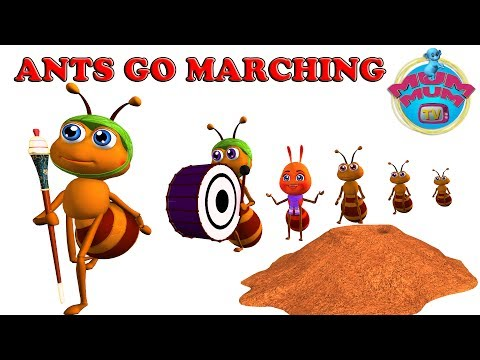 The Ants Go Marching Song with Lyrics - Nursery Rhymes For Kids, Children Songs | Mum Mum TV