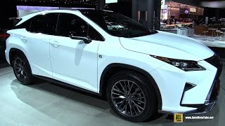 2016 Lexus RX350 F-Sport - Exterior and Interior Walkaround - Debut at 2015 New York Auto Show