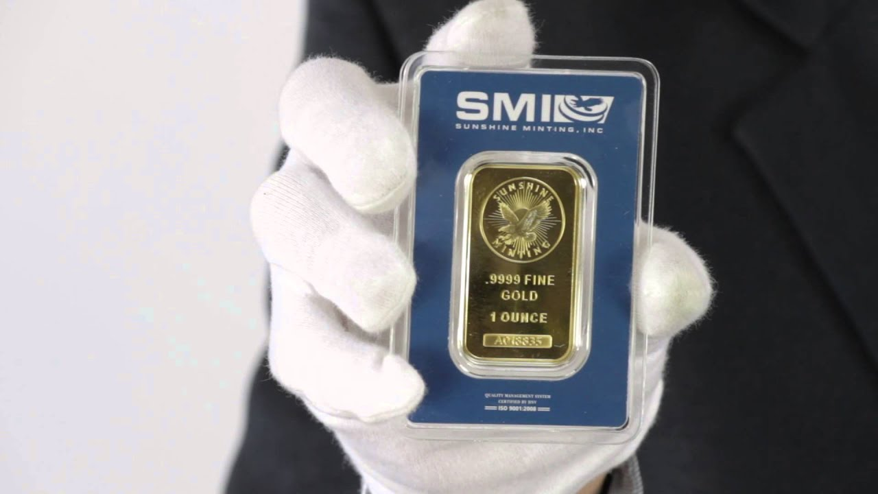1 Oz Sunshine Mint Gold Bar 9999 Fine Goldmart Youtube