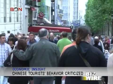 Chinese tourists' behavior criticized - Biz Wire - August 13,2013 - BONTV China