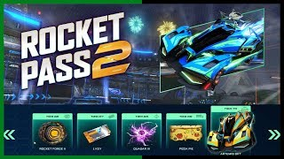 LIVE/ROCKET LEAGUE/NEW ROCKET PASS 2  OPENING TIERS FOR SUBS/ ENTER 200 KEY GIVEAWAY/TRADING