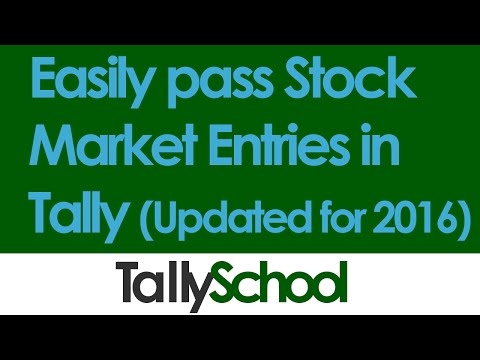 Stock Market Entries in Tally as Trading - 2016