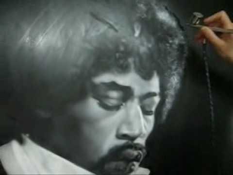 Airbrush Jimi Hendrix Bassgit Airbrush