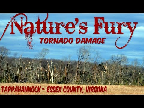 Nature's Fury: Feb. 24, 2016 Tornado Storm Damage in Tappahannock - Essex County, Virginia