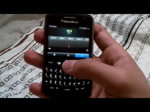 FM Radio on a Blackberry Curve 9360 OS 7.1