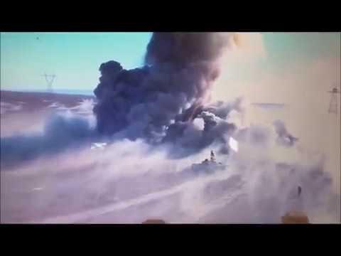 Дрон снял дуэль танка и «джихад-мобиля» в Ираке.