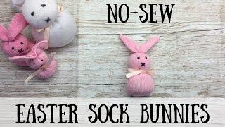 Easter Sock Bunnies   How to make   Hannah Spannah