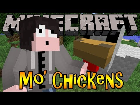 Minecraft Mod Review: Mo' Chickens - GIANT CHICKENS. LAY DIAMONDS. ORES & MORE!!