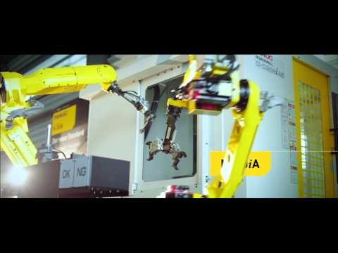 Bin picking cell with FANUC Area Sensor