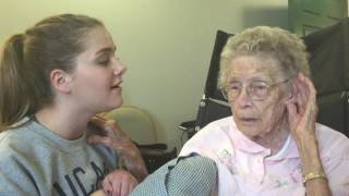 Olivia Sings to Great Grandma