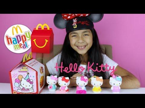 Mcdonald's Hello Kitty Surprise Happy Meals Toys   Mcdonalds Toys video