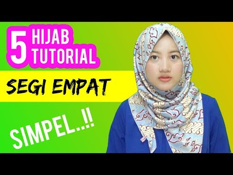5 Cara Pakai Jilbab Segi Empat Terbaru Simple Dengan Motif Batik Cantik #NMY Hijab Tutorials
