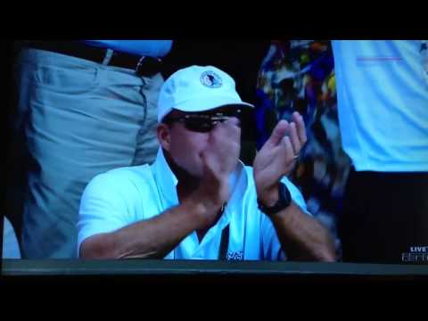 Ivan Lendl's reaction when Murray wins Wimbledon