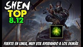 SHEN TOP S8 | FUERTE LINEA, MUY UTIL EN TF | Build, Runas, Maestrias 8.12 Gameplay Español NO GUIA