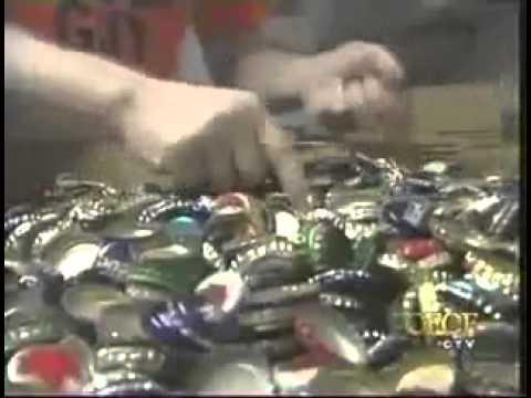 Umpan pancing dari tutup botol