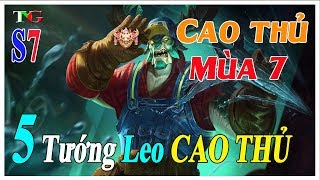 Liên quân mobile Top 5 Tướng giúp bạn Leo Rank Cao Thủ tại mùa 7 nhanh nhất TNG