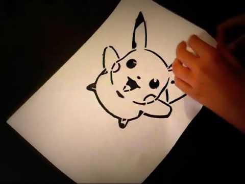 Nº1 Stencil de picachu