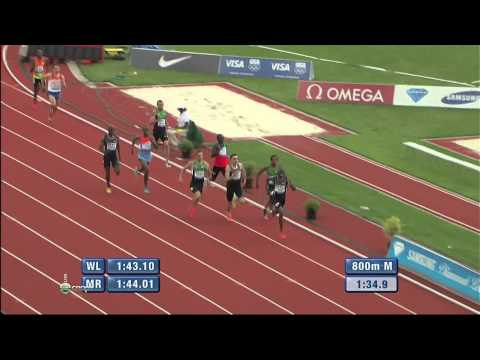 SAMSUNG DIAMOND LEAGUE 2012 Eugene 800m M