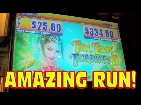 Far East Fortunes II BIG WIN + PROGRESSIVE + MAX BET BONUS Amazing Slot Machine Run