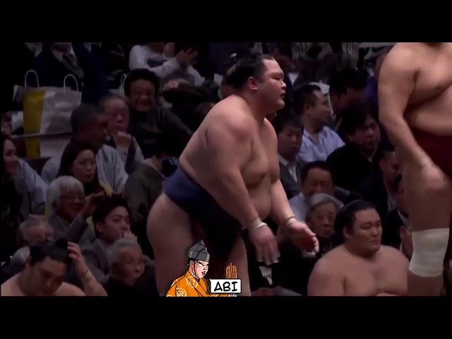 Толчковое сумо - удары без бросков. Рикиси Аби