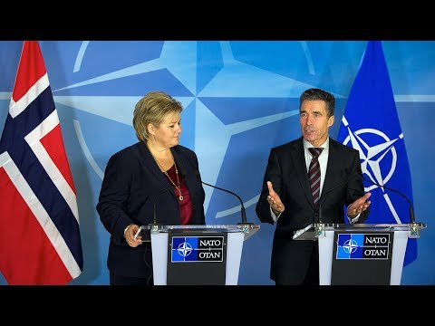 NATO Secretary General with Prime Minister of Norway - Joint press point