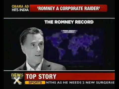 Obama's campaign blames Romney of outsourcing US jobs to India - NewsX