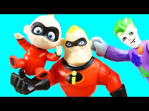 Incredibles 2 Funny Baby Jack Jack Transforms And Drops Chair On Imaginext Joker