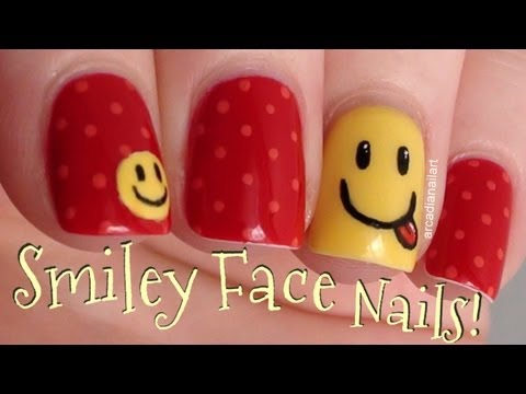 Smiley Face Nail Art