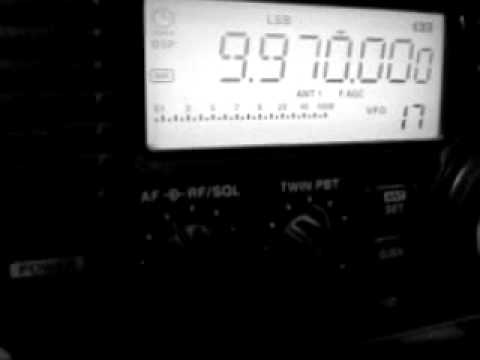 Icom R75 Unidentified Signal Intercept
