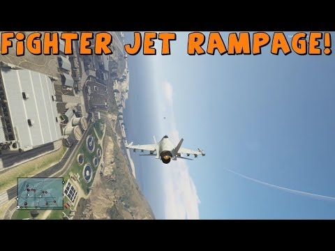 Grand Theft Auto 5   Multiplayer FIGHTER JET RAMPAGE!   And Crazy Moments with AR12 and DrTom