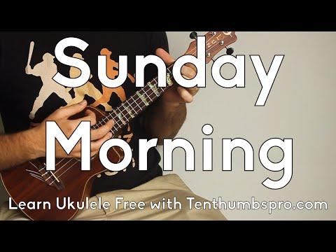 Sunday Morning - Maroon 5 - Ukulele Tutorial - Super Easy Beginner Song - Chordal Fills tutorial