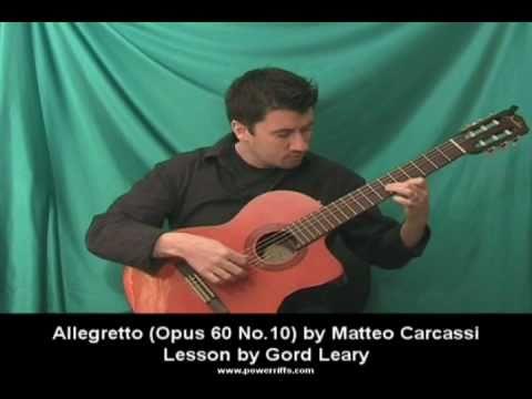 Matteo Carcassi - Allegretto Op60 No10 - Classical Guitar Lesson