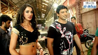 Prashanth and Nargis Fakhri in Item Song Shooting Spot - Saahasam