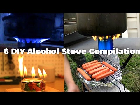 6 DIY Alcohol Stove Compilation