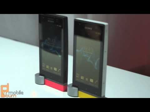 Sony Xperia P and Xperia U smartphones live first look from MWC 2012
