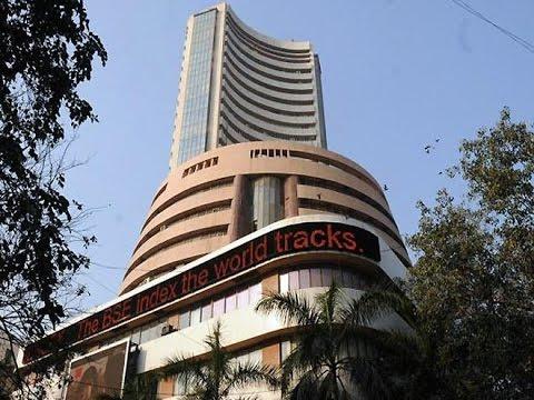 Sensex up by 100 points, Rupee depreciates 13 paise