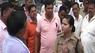 Bjp gundagardi nahi chali Ladies Police officer par.